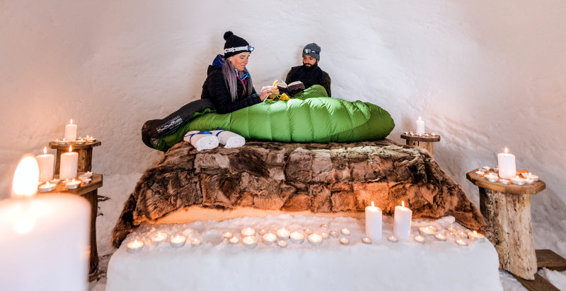 igloo romantico per due