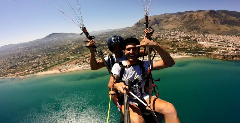 Parasailing Palermo fly winch