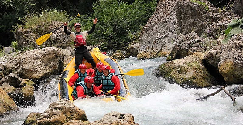 soft rafting fiume lao