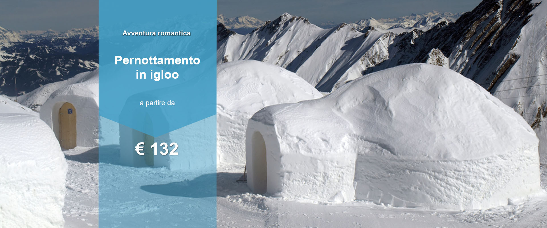 regalo notte in igloo